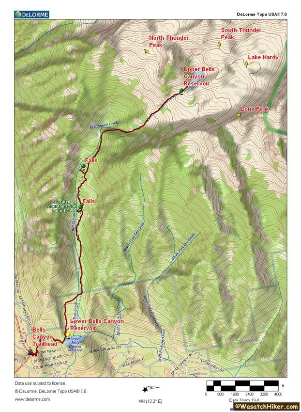 Hiking in Utah\'s Wasatch Mountains » Bells Canyon